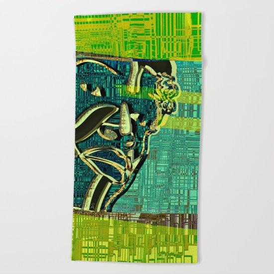Avatars 2 - Skin Circuits 07-08-16 Beach Towel