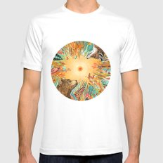 WHIRLWIND MEDIUM Mens Fitted Tee White
