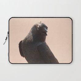 Black Crow Close Up Laptop Sleeve