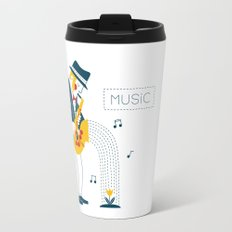 Man playing the saxophone Travel Mug