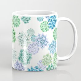 Floral succulent pattern Coffee Mug