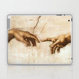 Michelangelo Creation of Adam Hands Laptop & iPad Skin