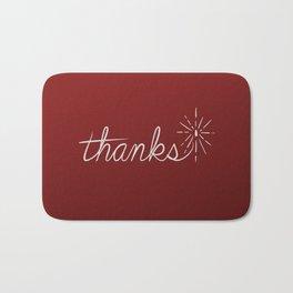 thanks* [red] Bath Mat