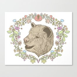 I love you beary much. Canvas Print