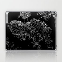 Hong Kong Black Map Laptop & iPad Skin