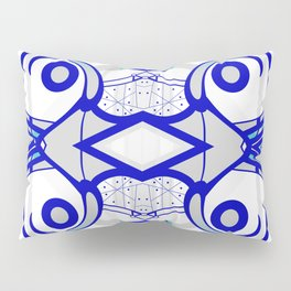 Blue morning - abstract decorative pattern Pillow Sham