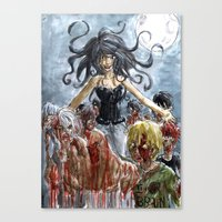 zombies Canvas Prints featuring ZOMBIES by Maryne.