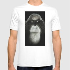 Debrazza's Monkey Square MEDIUM Mens Fitted Tee White