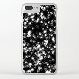 Sparkly Stars Clear iPhone Case