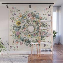 Circle of life- floral Wall Mural