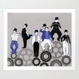 The Chaplins. Art Print