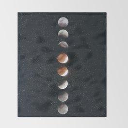 Phases of the Moon II Throw Blanket