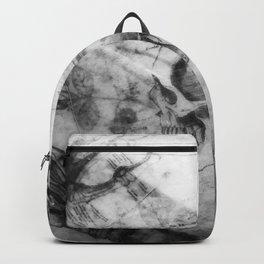 Gray Skull Backpack