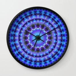Radiant Core Mandala Wall Clock