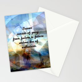Winston Churchill Motivational SUCCESS QUOTE Stationery Cards