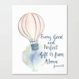 Hot Air Balloon Scripture art Canvas Print
