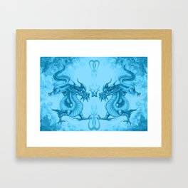 Japanese dragons Framed Art Print