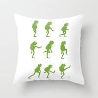 muppet Throw Pillows featuring Ministry of Silly Muppet Walks by 6amcrisis