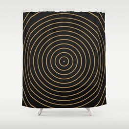 Gold Sphere Design Shower Curtain