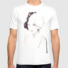 Fashion illustration in watercolors White Mens Fitted Tee MEDIUM