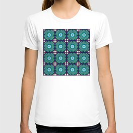 Green and Purple Daises T-shirt