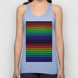 Spectrum - Rainbow Stripes - Colorful - Manafold Art Unisex Tank Top