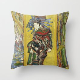 Courtesan (after Eisen) - Van Gogh Throw Pillow