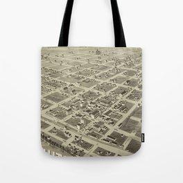 Vintage Pictorial Map of Wichita Falls TX (1890) Tote Bag