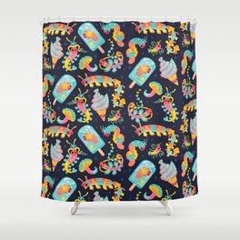 Jelly Polychaete worm - dark Shower Curtain