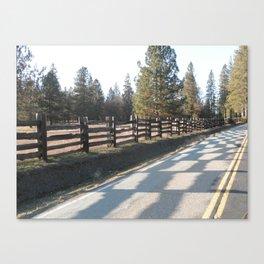 Checkerboard Road Canvas Print