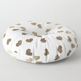 Glamorous Faux Gold Hearts Pattern Floor Pillow