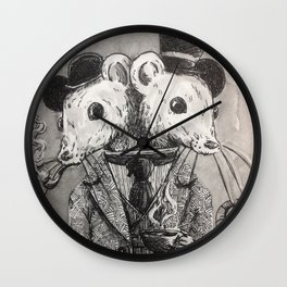 Gentlemen mice Wall Clock