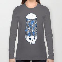 doodle breakout (blue) Long Sleeve T-shirt