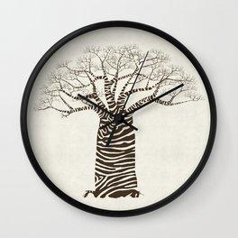 Zebra Tree Wall Clock