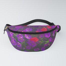 Purple Petunias Fanny Pack