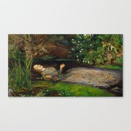 Ophelia, John Everett Millais Canvas Print