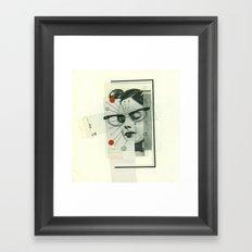 Girls Who Wear Glasses Framed Art Print