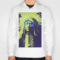 native american Hoodies featuring Native American  by Ty McKie Creations