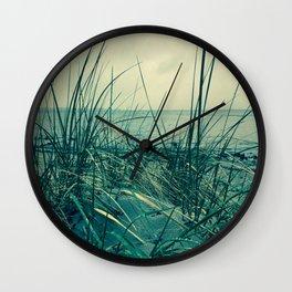Grasses on Beach / Gräser am Strand Wall Clock