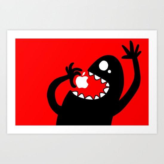 apple eater Art Print