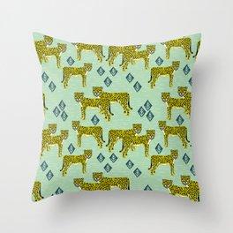 Cheetah safari nursery kids animal nature pattern print gifts Throw Pillow