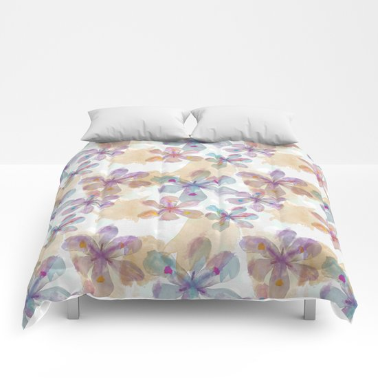 Soft Flower Comforters