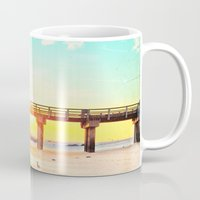 boardwalk empire Mugs featuring Boardwalk by Mina Teslaru