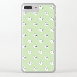 Derp Cat in Green Clear iPhone Case
