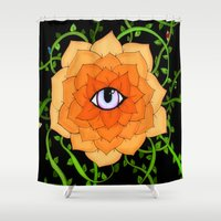 chakra Shower Curtains featuring Sacral Chakra by DuckyB