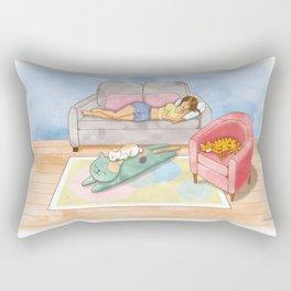 Naptime, moment of happiness. Rectangular Pillow
