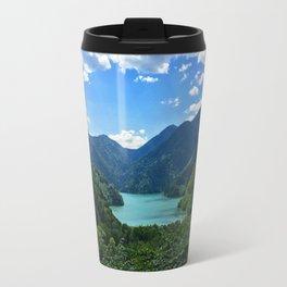 Mountain lake Ritsa. Abkhazia. Travel Mug