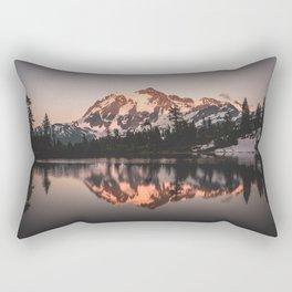 Alpenglow - Mountain Reflection - Nature Photography Rectangular Pillow
