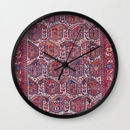 Khamseh Fars Southwest Persian Rug Print Wall Clock