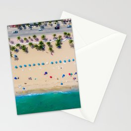 USA Photography - Miami Beach From Bird Perspective Stationery Cards